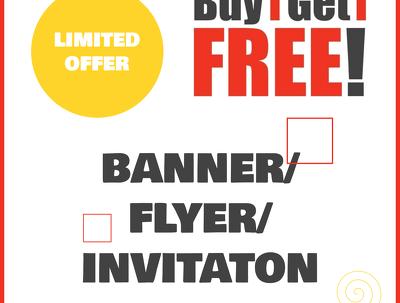 FLYER/BANNER DESIGN FOR WEBSITE/ BUSINESS