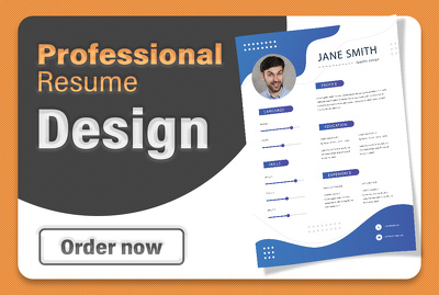 Professional Resume Writing Modern Infographic CV Design