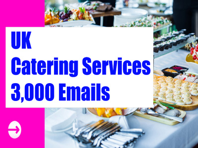 UK Catering Service Email list Email database 3K Email Addresses