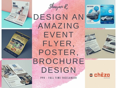 Design an amazing event flyer, poster, brochure design