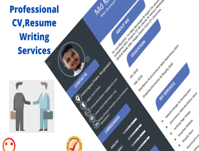 create amazing professional Resume/CV in 24 hours