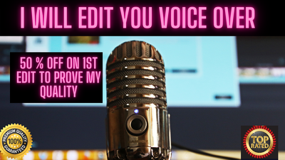 Edit your voice over in high quality