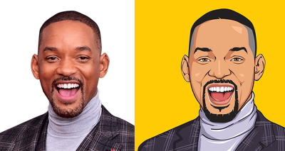 Create your vector/ cartoon images from your simple images.