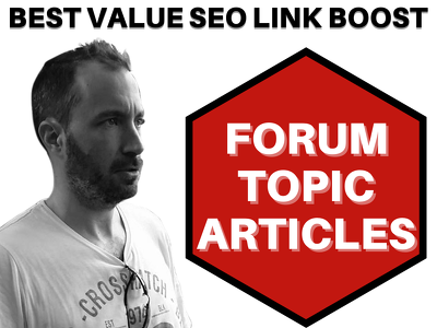 Create 1000 Genuine Contextual Topic Articles On High DA Forums