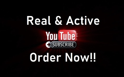 Add 400 Real Subscribers to your YouTube Channel