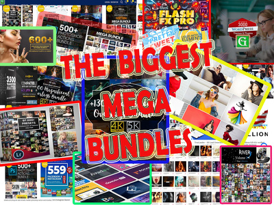 Send 30 digital graphic  hot products bundles in one mega pack