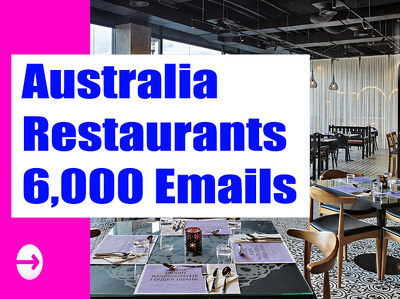 Australia Restaurants Email list Email Database 6K Email Address