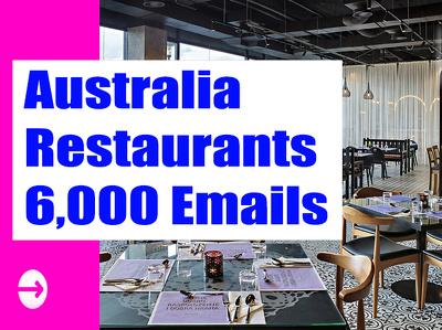 Australia Restaurants Email list Email Database 6K Email Address