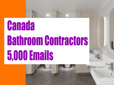 Canada Bathroom Contractors Email list, 5K Email Addresses