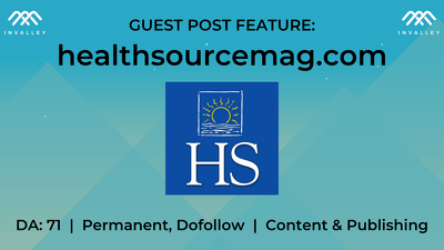 Write & publish a guest post on Health Source (DA 71, dofollow)