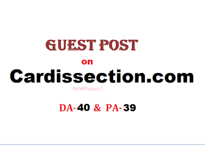 Able to publish content on Cardissection.com (DA-40, PA-39)