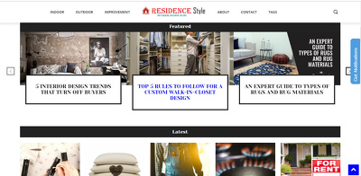 Guest Post on Residencestyle.com With Do Follow Link DA 47