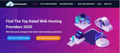 Automated profitable hosting affiliate site for passive income