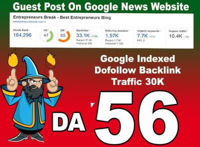 general Guest post on Google News Blog traffic 15k DA 56