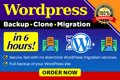 Migrate website to new hosting or domain