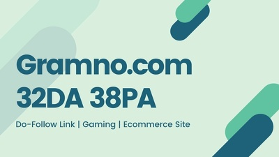 Guest posting on Gramno.com 32.DA dofollow gaming/ecommerce