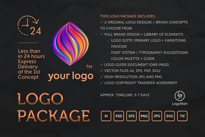 Design Premium, Vibrant, Timeless, Professional Logo