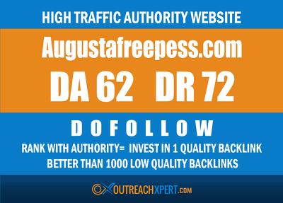 guest post on Augustafreepress -- Augustafreepress.com -- DR 72
