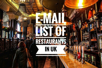 Provide database of restaurants in UK with 30000+ valid e-mails