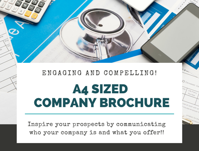 Write a company brochure in A4 size - 4 pages