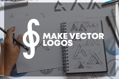 Design your logo in vector for business and other for $15