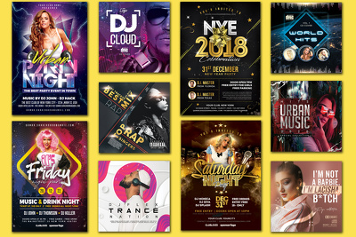 Design an event or a party flyer