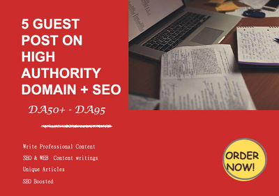 Give you 5 guest posts from DA 60 to 90 plus seo