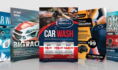 Design car wash  a yard sale flyer