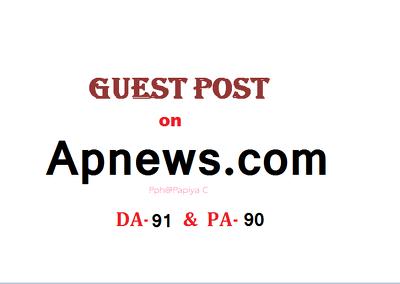 Able to publish Guest post/press release on Apnews.com DA-91