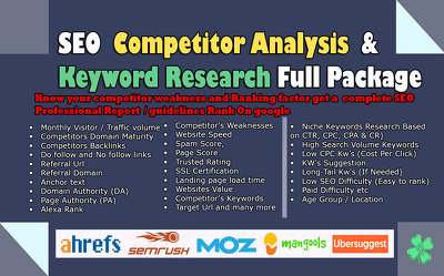 Provide best SEO competitor analysis and keyword research.