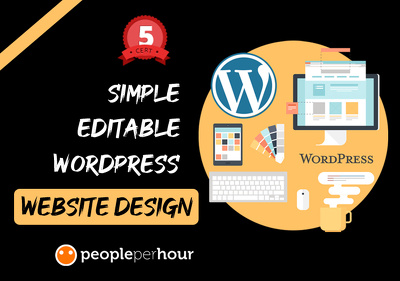 Build a simple editable WordPress website design