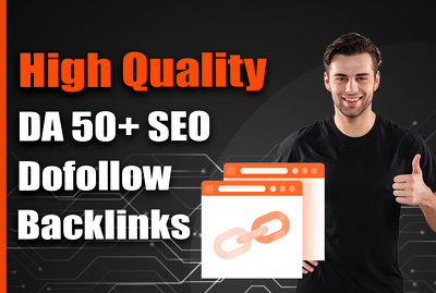 Create High Quality DA 50+ SEO Do Follow Backlinks, Drip Feed