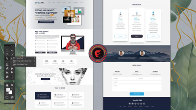 Psd, design Website pages Mockup (1 Page) or Homepage +PSD FILE