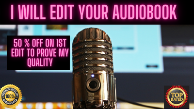 Edit your audiobook in high quality
