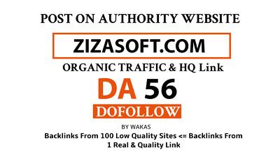 Guest Post on Zizasoft – Zizasoft.Com DA 56 Do Follow Link