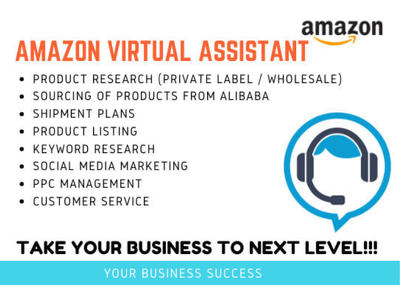 Be your expert Amazon fBA virtual assistant,private label