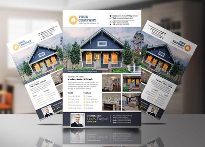 Design real estate flyer or a billboard