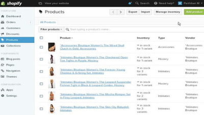 Upload products on your Shopify store