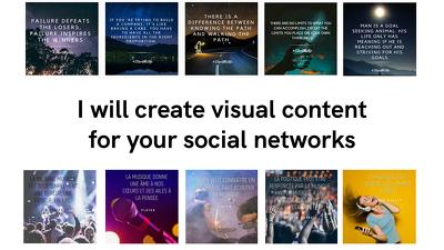 Design an Instagram, Linkedin or Facebook visual