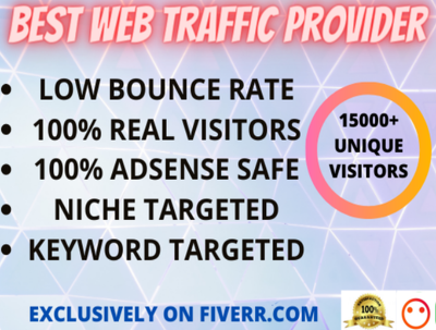 Send real visitors, targeted web traffic