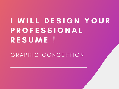 design a professional resume