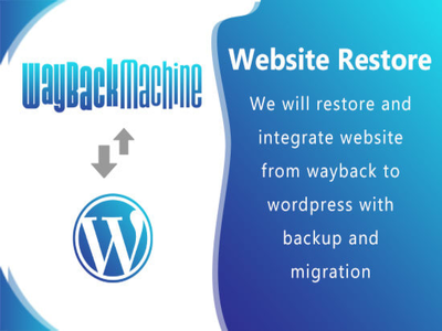 Restore and recover website to WordPress. Page limit- 7