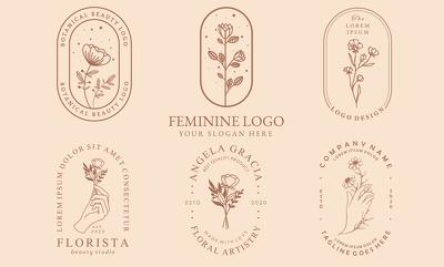 Design a feminine, minimalist, glamorous logo