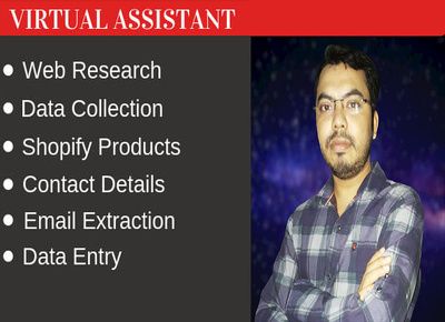 Do virtual assistant for data entry and web research