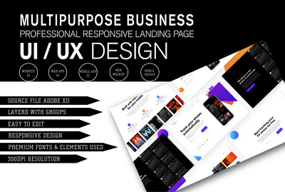Create modern landing page design for your website