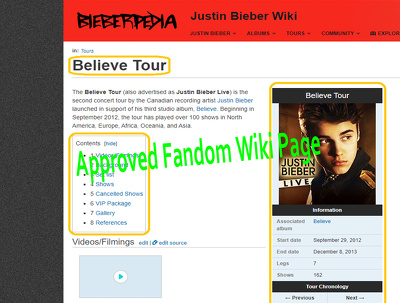 Create an Approved Fandom Wikipedia Page for you
