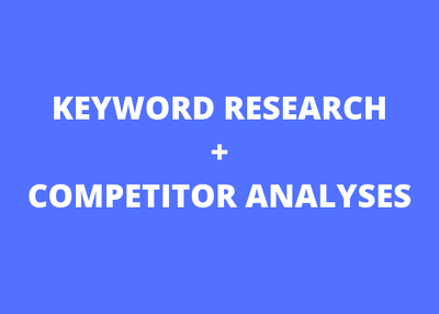 Do keyword research of 200 kws  and 3 competitor analyses