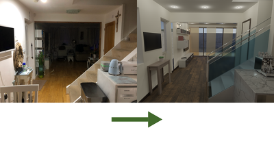 Make a 3d virtual interior staging for Real Estate. Full CGI!