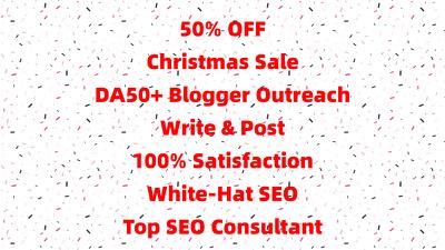 Guest Post DA50+ Link Building Do Follow Blogger Outreach