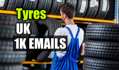 Tyres Email Database Email list 1000 Email Addresses